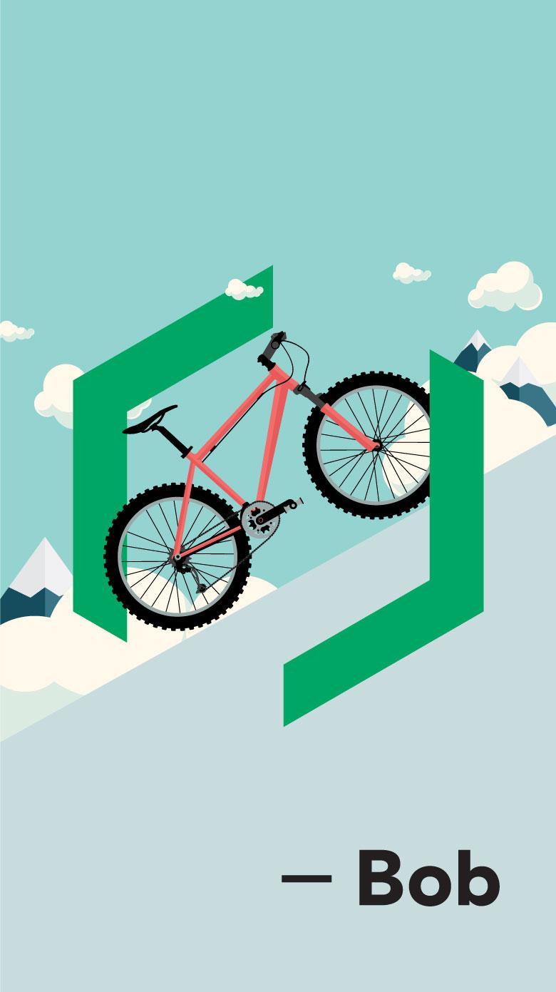 Campagne Vélo Desjardins avec Bob